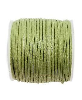 Hilo algodón verde claro 1,5mm, precio por 5 metros