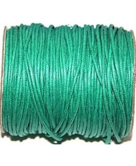 Hilo algodón turquesa oscuro 2mm, precio por 5 metros