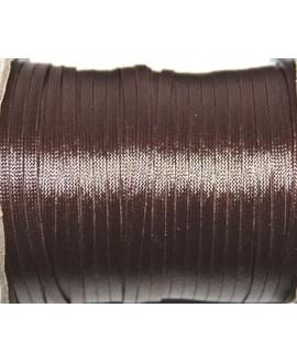 Hilo algodón plano marrón 3x1mm, precio por 5 metros