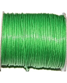 Hilo algodón coreano 3mm verde, precio por 5 metros