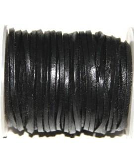 Cuero cuadrado negro 4mm, venta por metro