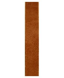 Cuero hecho en España ocre oscuro 10mm, precio por 20cm,