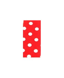 Cuero hecho en España blanco/rojo 15mm, precio por 20cm,