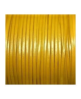 Tira cuero doblado alta calidad 2mm amarillo, precio por metro
