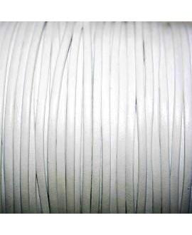 Tira cuero doblado alta calidad 2mm blanca, precio por metro