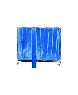 Terciopelo elástico azulón 10mm, precio por metro