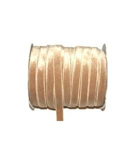 Terciopelo elástico crema 10mm, precio por metro