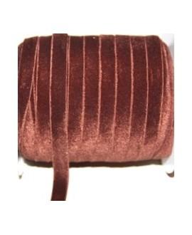 Terciopelo elástico marrón 10mm, precio por metro