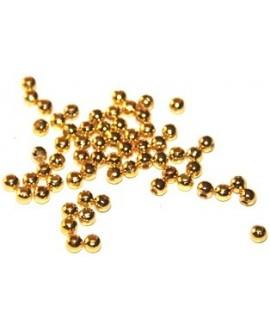 Cuenta aluminio dorada, 3mm, paso 1mm precio por 30 unidades