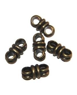 Entre-pieza bronce 12x3mm, paso doble 3mm, precio por 10 unidades