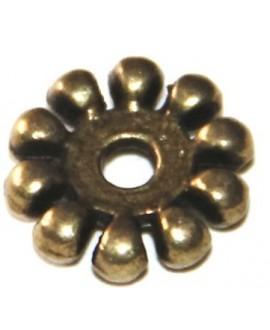 Entre-pieza bronce 10mm paso 2mm, precio por 50 gramos aprox 78 unidades