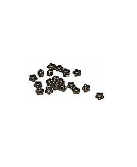 Cuenta metal mini bronce 4mm paso 1mm, precio por 50 gramos