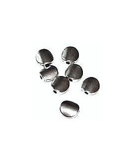 Cuenta plana 8mm, paso 1mm, precio por 50 gr, 74 unidades aprox