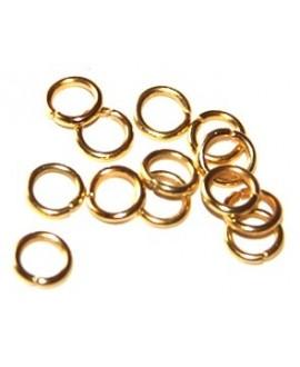 Anilla 12/7 color dorada precio por 50 gramos