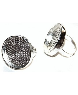 Base anillo metal 25x25mm ajustable, precio por 5 unidades