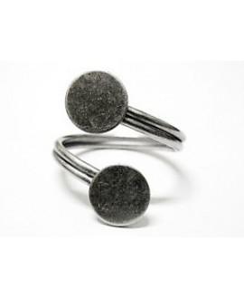 Base anillo espiral doble 2x9mm, precio por 5 unidades