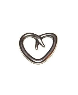 Colgante corazón 20mm metal, precio por 10 unidades