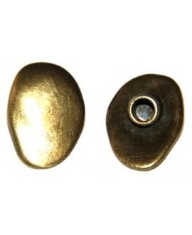 Cierre botón bronce, paso 4mm