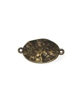 Entre-pieza metal bronce 34x20mm, paso 2mm
