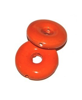 Donut naranja 26x26x8mm, paso 6mm, agujero 2mm