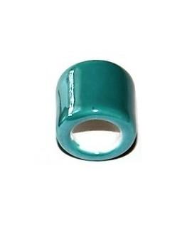Donut azul 26x26x8mm, paso 6mm, agujero 2mm
