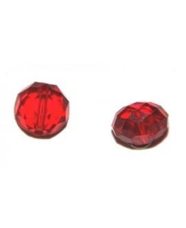 Cuenta cristal Swarovski chata roja 12mm, paso 1mm, precio por 18 unidades