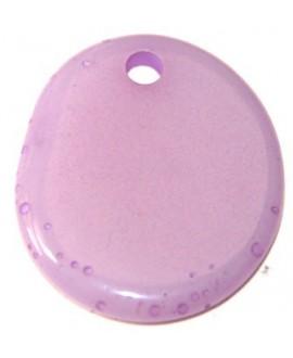 Colgante moneda lila 28x24mm
