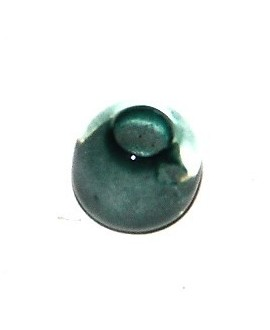Cuenta resina azul mar claro , 5x7mm, paso 3mm