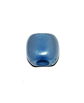 Cuenta resina cuadrada plana azul bebe 7x3mm paso 3mm