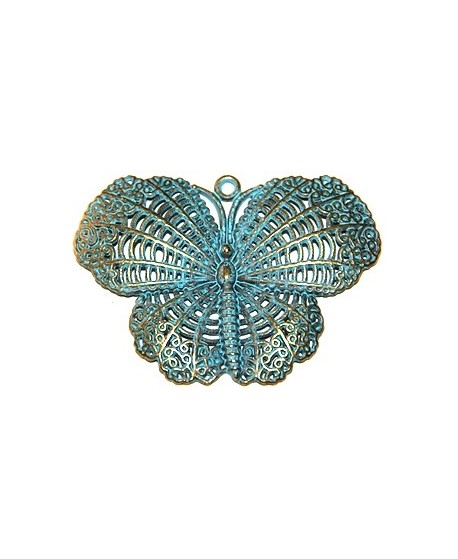 Colgante mariposa patinada, 48x68mm