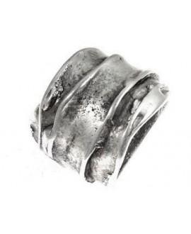 Rondel irregular varias capas 25x20mm paso 20mm, zamak baño de plata