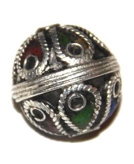 Cuenta esmalte marroquí (berebere), 20mm, paso 2mm