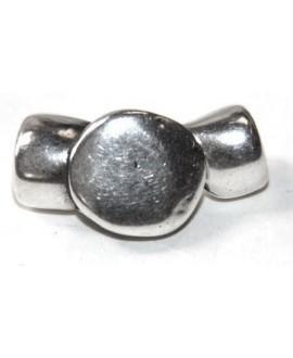 Cierre gancho dos partes paso 4mm, zamak baño de plata