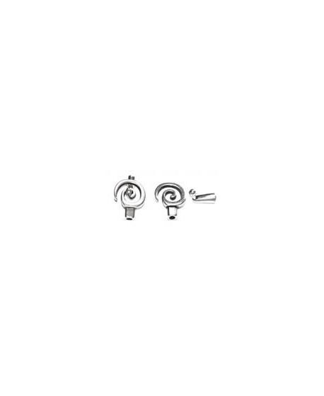 Cierre espiral 22mm, paso 4mm, baño de plata