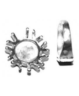 Anillo 28x25mm, 17mm, zamak baño de plata