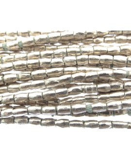 Tubo metal etíopes , 3x2mm, paso 1,5mm, precio por ristra