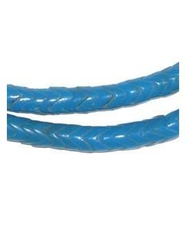 Cuentas serpiente  de vidrio turquesa  6mm paso 2mm