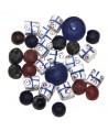 Mix- África vidrio reciclado y cuentas de krobo