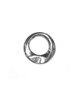 Aro irregular 12mm, zamak baño de plata