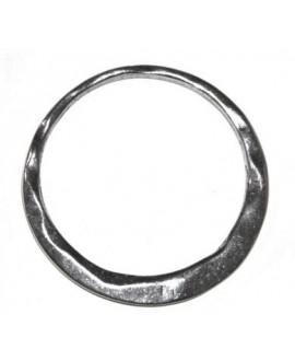 Aro irregular 50mm, zamak baño de plata