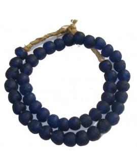 Redonda azul cobalto 25x15mm, paso 2-3mm, ristra