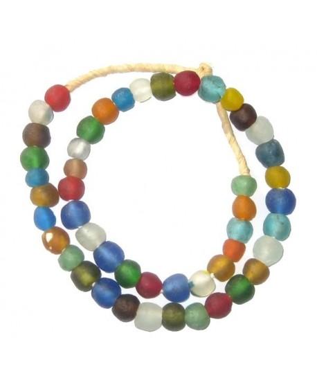 Vidrio reciclado multicolor  Ghana , precio por ristra, 11-12mm paso 3mm