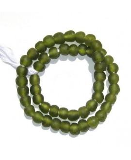 Vidrio reciclado oliva , precio por ristra, 8mm, paso 3mm.