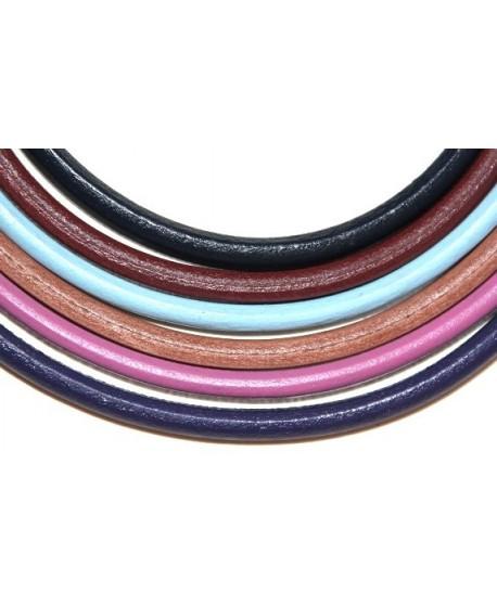 Cuero REGALIZ Oval 10x6mm, MIX precio por 7 tiras de 20cm