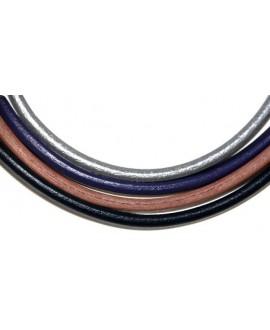Cuero REGALIZ Oval 10x6mm, MIX precio por 4 tiras de 20cm