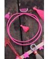 Disco de vinilo rosa neón 3-4mm, paso 0,5, ristra de 80cm