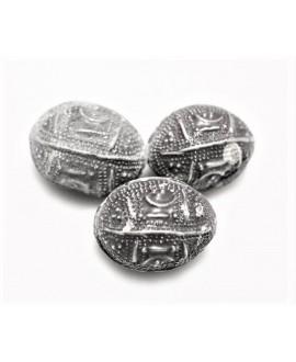 Antigua y rara cuenta de plata hueca de  mauritania Agrabb Al-Fadda, precio por unidad