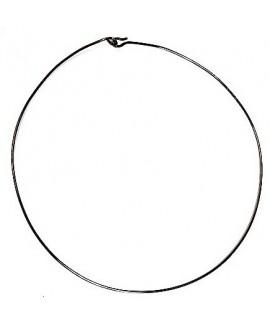 Collar rígido 1,5mm de metal para colgantes, Ghana África. Hecho a mano